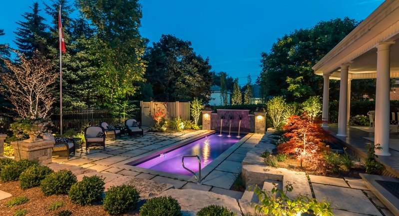 Hollandale Pool Landscape designs